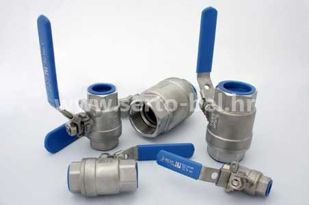 Stainless steel (inox) cast ball valves