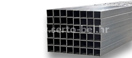 Stainless steel (inox) welded square tubes